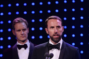 Dan Walker and Gareth Southgate, Manager of England present The Integrity and Impact Award founded by Dow Jones Intelligence during the BT Sport Industry Awards 2019 at Battersea Evolution on April 25, 2019 in London, England. The BT Sport Industry Awards is the biggest commercial sports awards in the world and an annual showcase of the best of the sector's creative and commercial output. The event brings together sports stars, celebrities, industry leaders, influencers and media from around the world for what is always a highly anticipated occasion.