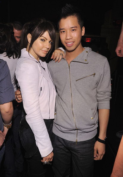 Fergie of The Black Eyed Peas and Jared Eng attend The Bacardi VIP Room For The Black Eyed Peas After Party at M2 Ultra Lounge on February 24, 2010 in New York, New York.