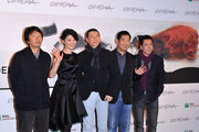 "Writer Liu Zhenyun, director Feng Xiaogang, actors Xu Fan, Zhang Guo Li and producer Wang Zhonglei attend the ""Back To 1942"" Photocall during the 7th Rome Film Festival at the Auditorium Parco Della Musica on November 11, 2012 in Rome, Italy."