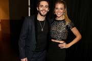 Singer Thomas Rhett (L) and Lauren Gregory attend the 2014 American Country Countdown Awards at Music City Center on December 15, 2014 in Nashville, Tennessee.