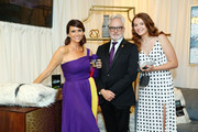 (L-R) Amy Landecker, Bradley Whitford and Mary Louisa Whitford attend Backstage Creations Giving Suite At The Emmy Awards - Day 2 at Microsoft Theater on September 22, 2019 in Los Angeles, California.