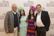 Fashion designer Mark Badgley, Alexandra Dillard, Annemarie Dillard and fashion designer James Mischka attend Badgley Mischka Celebrates The Kentucky Derby With Special Appearance At Dillards on May 1, 2014 in New York City.
