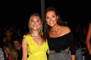 (L-R) Katie Sands and Christine Bell Currence attend Badgley fashion show during New York Fashion Week: The Shows at Gallery I at Spring Studios on September 11, 2019 in New York City.