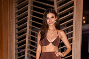 Victoria Justice attends the Badgley Mishka Swimwear 2020 Collection Runway Show - Front Row - Paraiso Miami Beach at The W Hotel South Beach on July 13, 2019 in Miami, Florida.