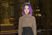 Irene Kim attends the Balmain show as part of the Paris Fashion Week Womenswear  Spring/Summer 2018 on September 28, 2017 in Paris, France.