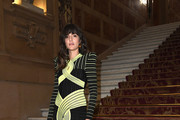 Eleonora Carisi attends the Balmain show as part of the Paris Fashion Week Womenswear Spring/Summer 2019 on September 28, 2018 in Paris, France.