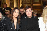 Eva Longoria and Kris Jenner attend the Balmain Womenswear Spring/Summer 2020 show as part of Paris Fashion Week on September 27, 2019 in Paris, France.