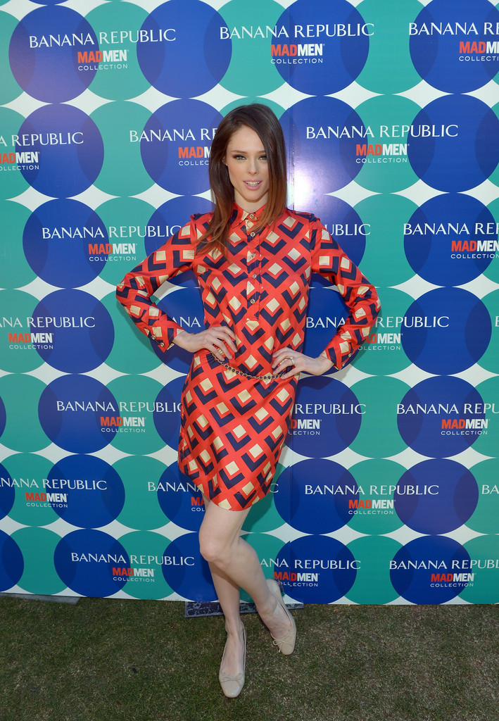 Coco Rocha's 'Mad Men'-Inspired Print Dress