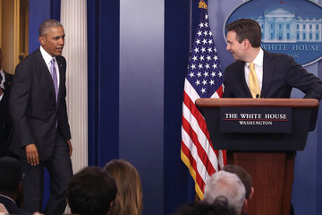 Barack Obama White House Press Secretary Josh Earnest Holds Daily Press Briefing At The White House