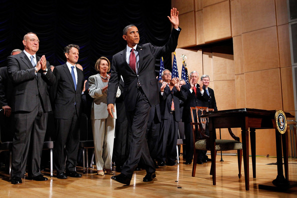 President Obama Signs Finance Reform Bill Into Law