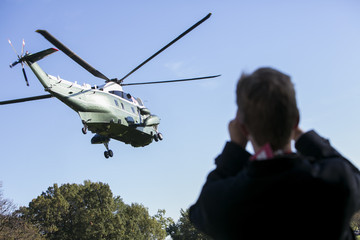 Barack Obama Obama Departs To Campaign Fro Anthony Brown
