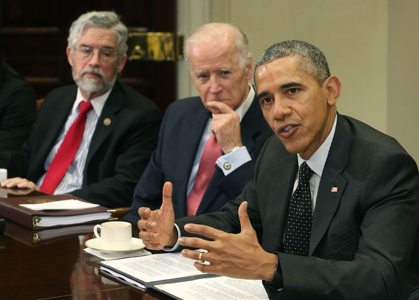Barack Obama, Joe Biden, John P. Holdren - Barack Obama and John P ...