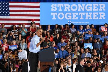 Barack Obama President Obama Campaigns for Hillary Clinton in Las Vegas Area
