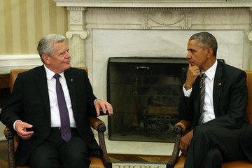 Barack Obama President Obama Meets with German President Gauck at the White House