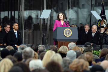 Barack Obama The Edward Kennedy Institute Holds Dedication Ceremony
