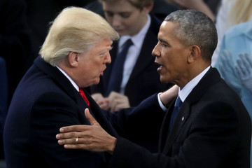 Barack Obama Donald Trump Is Sworn In As 45th President Of The United States