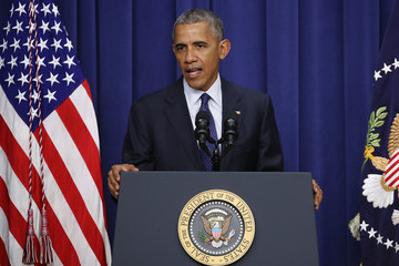 Barack Obama President Obama Speaks at Meeting With Law Enforcement Officials