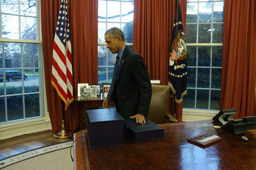 Barack Obama President Obama Signs Bills in the Oval Office of White House