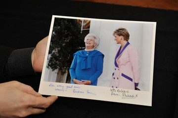Barbara Bush Princess Diana Photography Auction Featuring Never Before Published Photos Of The Late Princess Diana - January 2013