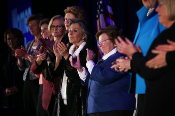Barbara Mikulski Female Senators Hold a 'Women For Hillary' Endorsement Event With the Presidential Candidate