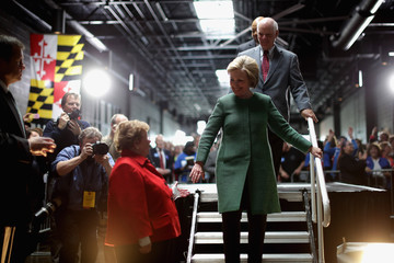 Barbara Mikulski Hillary Clinton Holds Campaign Organizing Event in Baltimore