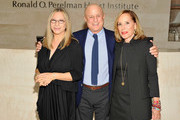 (L-R) Barbra Streisand, Ronald O. Perelman and Claire Yaffa visit the Ronald O. Perelman Heart Institute at New York Presbyterian Hospital on September 20, 2012 in New York City.