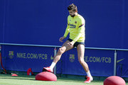 Gerard Pique of FC Barcelona works during a training session at Ciutat Esportiva Joan Gamper on May 19, 2020 in Barcelona, Spain. Spanish LaLiga clubs are back training in groups of up to 10 players following the LaLiga's 'Return to Training' protocols.
