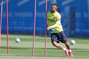 Arturo Vidal of FC Barcelona runs during a training session at Ciutat Esportiva Joan Gamper on May 20, 2020 in Barcelona, Spain. Spanish LaLiga clubs are back training in groups of up to 10 players following the LaLiga's 'Return to Training' protocols.