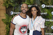 Marvin Humes (L) and Rochelle Humes attend as Barclaycard present British Summer Time Hyde Park at Hyde Park on July 14, 2018 in London, England.