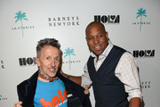 Creative Ambassador of Barneys Simon Doonan (L) and HOLA Executive Director Tony M. Brown attend a cocktail event with Barneys New York and HOLA to celebrate the newly renovated Beverly Hills Flagship Store at Barneys New York Beverly Hills on October 15, 2014 in Beverly Hills, California.
