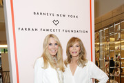 Alana Stewart (L) and Jaclyn Smith attend Barneys New York Hosts A Cocktail Party In Support Of The Farrah Fawcett Foundation at Barneys New York Beverly Hills on April 11, 2019 in Beverly Hills, California.