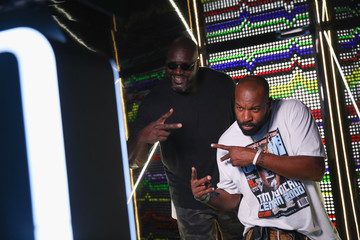 Baron Davis Shaquille O'Neal Attends The 2018 Austin City Limits Festival With American Express In Austin, TX