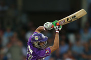 Shoaib Malik of the Hurricanes bats during the Big Bash League match between the Perth Scorchers and the Hobart Hurricanes at WACA on January 7, 2014 in Perth, Australia.