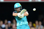 Alex Ross of the Heat plays a shot during the Big Bash League semi final match between the Brisbane Heat and the Sydney Sixers at the The Gabba on January 25, 2017 in Brisbane, Australia.