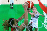Marine Johannes #17 of France shoots against Brittney Griner #15 of United States during a Women's Semifinal Basketball game between the United States and France on Day 13 of the Rio 2016 Olympic Games at Carioca Arena 1 on August 18, 2016 in Rio de Janeiro, Brazil.