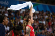 Brittney Griner #15 of United States reacts during a Women's Semifinal Basketball game between the United States and France on Day 13 of the Rio 2016 Olympic Games at Carioca Arena 1 on August 18, 2016 in Rio de Janeiro, Brazil.
