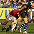 Matt Banahan Photos - Matt Banahan of Bath is tackled by Dwayne Peel of Sale Sharks during the Aviva Premiership match between Bath and Sale Sharks at the Recreation Ground on December 3, 2011 in Bath, England. - Bath v Sale Sharks - Aviva Premiership