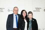 "(L-R) Steve Young, Dava Whisenant and Joy Brown attend the ""Bathtubs Over Broadway"" screening during 2018 Tribeca Film Festival at BMCC Tribeca PAC on April 21, 2018 in New York City."