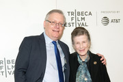 "(L-R) Steve Young and Joy Brown attend the ""Bathtubs Over Broadway"" screening during 2018 Tribeca Film Festival at BMCC Tribeca PAC on April 21, 2018 in New York City."