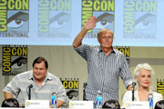 "(L-R) Actors Burt Ward, Adam West and Julie Newmar attend the ""Batman: The Complete Series"" DVD release presentation during Comic-Con International 2014 at the San Diego Convention Center on July 24, 2014 in San Diego, California."