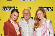 """Stefania LaVie Owen, Jimmy Buffett, and Isla Fisher and attends the """"The Beach Bum"""" Premiere 2019 SXSW Conference and Festivals at Paramount Theatre on March 09, 2019 in Austin, Texas."""