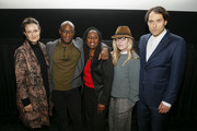 """(L-R) Producer Adele Romanski, Director Barry Jenkins, NAACP Legal Defense Fund President and Director-Counsel Sherrilyn Ifill, Producer Dede Gardner, and Producer Jeremy Kleiner after a screening and conversation on """"If Beale Street Could Talk"""" with NAACP Legal Defense Fund on January 10, 2019 in Washington City."""