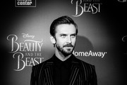 """(This photo was converted to black and white using digital filters) Actor Dan Stevens attends the """"Beauty And The Beast"""" New York screening at Alice Tully Hall at Lincoln Center on March 13, 2017 in New York City."""