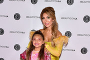 Sophia Abraham and Farrah Abraham attend Beautycon Los Angeles 2019 Pink Carpet at Los Angeles Convention Center on August 10, 2019 in Los Angeles, California.