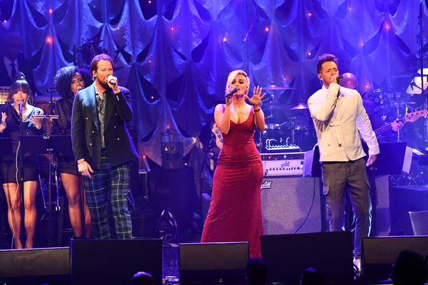 The Recording Academy And Clive Davis' 2019 Pre-GRAMMY Gala - Show [recording academy,l,performance,entertainment,performing arts,music artist,event,stage,concert,song,music,singing,pre-grammy gala - show,clive davis,bebe rexha,guest,c,r,brian kelley,tyler hubbard]