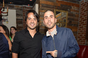 Luis Fonsi and TYPOE attend as Beck's Beer launches Live Beyond Labels Program with Aloe Blacc and Luis Fonsi at The Electric Pickle Company on July 8, 2014 in Miami, Florida.