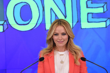 Becki Newton The Cast of 'Weird Loners' Ring the NASDAQ Closing Bell