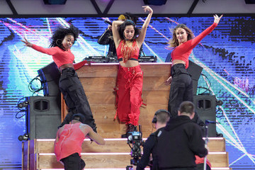 Becky G Univision and Fusion Host RiseUp AS ONE