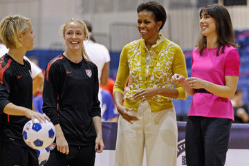 Becky Sauerbrunn Michelle Obama And Samantha Cameron Attend Olympic-Themed Children's Event