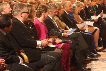 Princess Astrid Prince Philippe Belgian Royal Family Christmas Concert and Reception